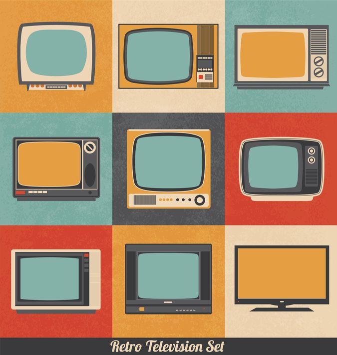 18882781 - retro television icons