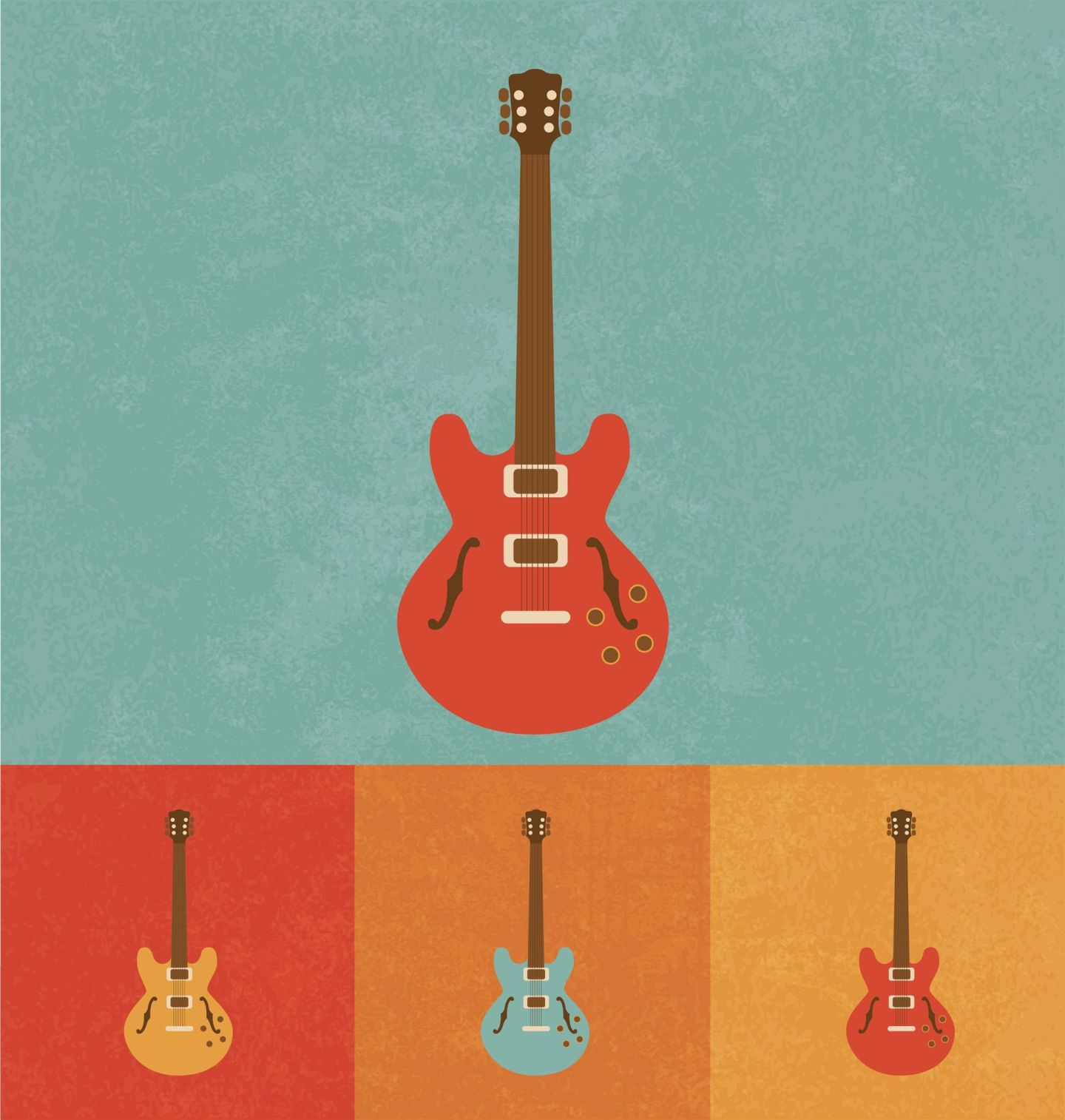 20626894 - retro icons - electric guitar
